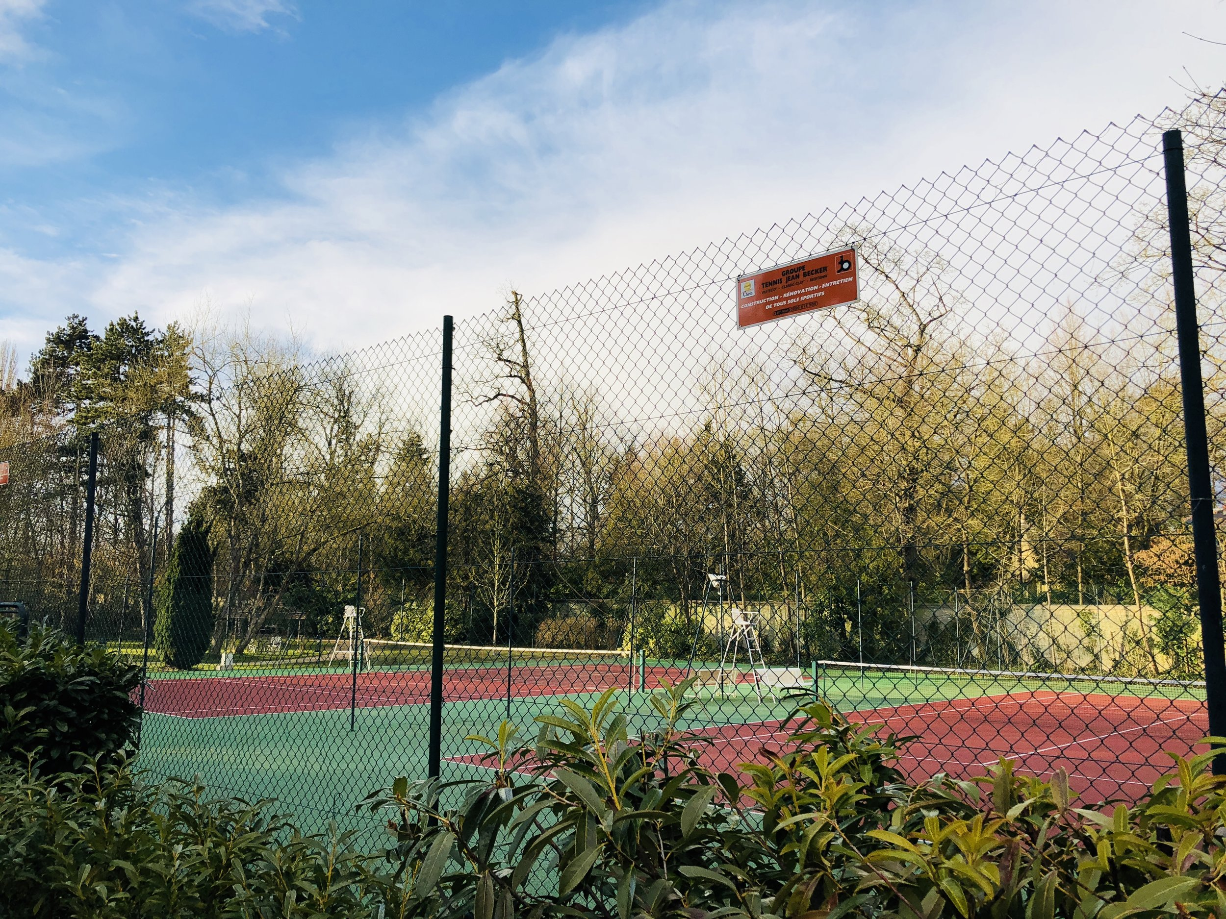 Tennis courts on the grounds