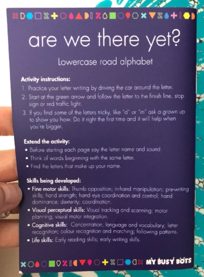 'Are We There Yet' instructions example