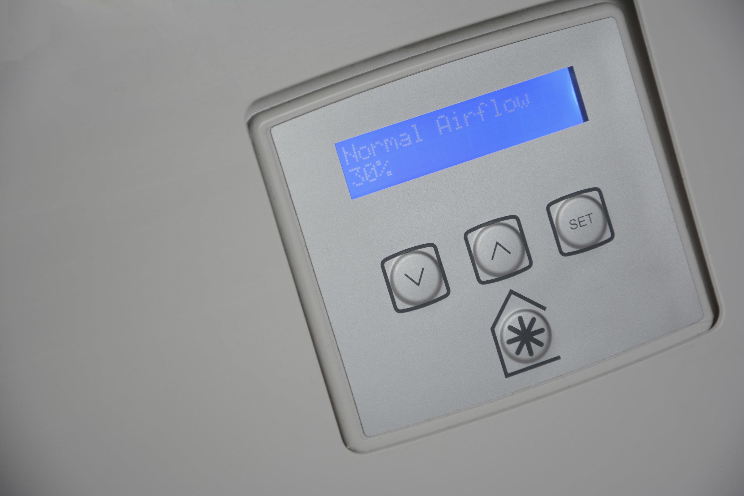 MVHR control panel