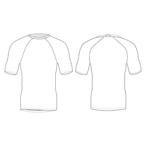 Приталенная рубашка с короткими рукавами