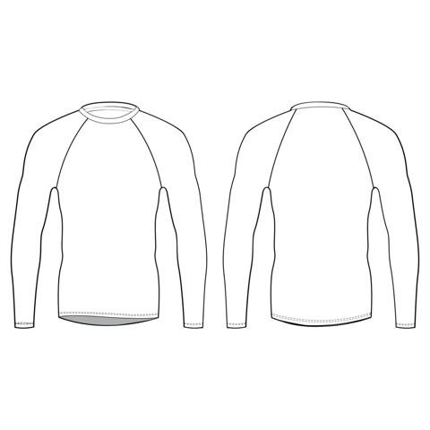 Приталенная рубашка с длинными рукавами