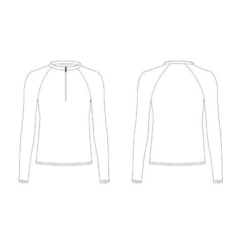 Fitted Fit Winter Top with Zip