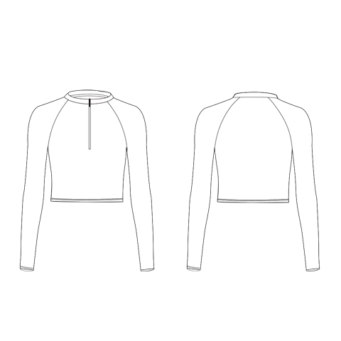 Fitted Fit Cropped Long Sleeve Top