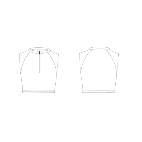 Fitted Fit Cropped Sleeveless Top