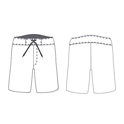 Спортивные шорты свободного кроя