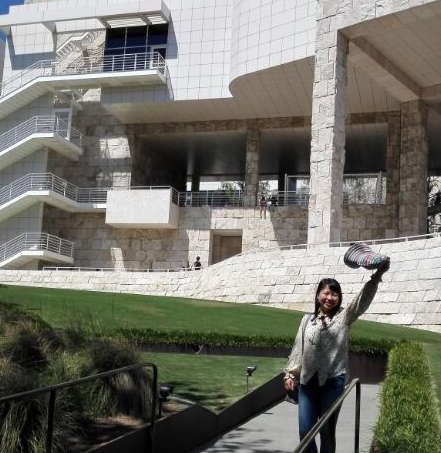 Dr Jing Han at the Getty Conservation Institute