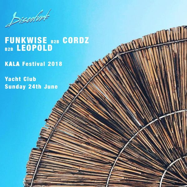 Discofunk takeover at the Yacht Club,  Kala Festival  2018 b2b Cordz & Leopold