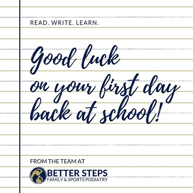 Good luck to all our smaller patients this week! Have a wonderful year #betterstepspodiatry #podiatry #kidsfeet #brisbanepodiatrist #bulimbapodiatrist #bulimbabusiness #bulimbabusiness #hawthorne