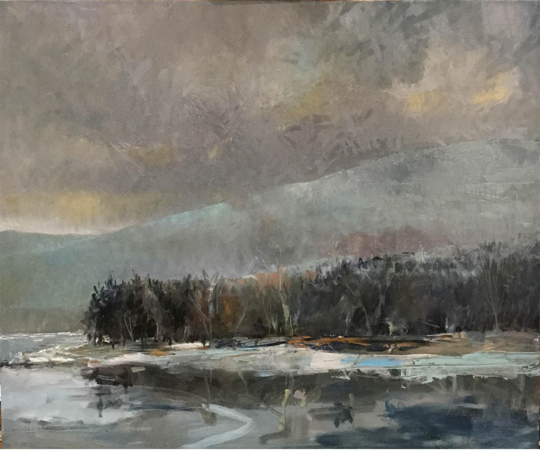 january shoreline, ashokan reservoir.jpg