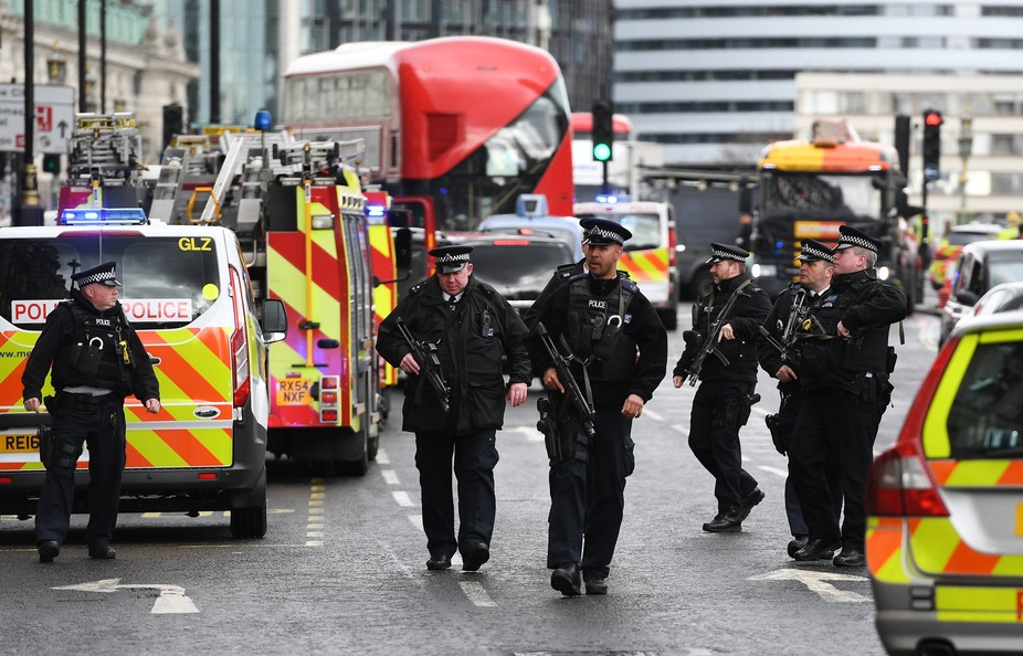 Five people are dead following a terror attack in London. EPA/Andy Rain
