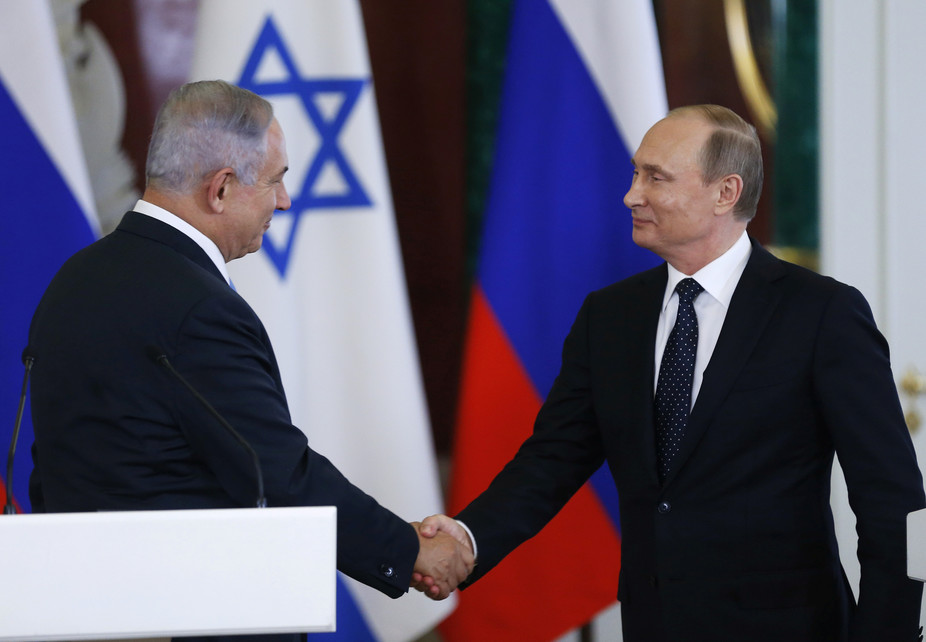 Israeli Prime Minister Benjamin Netanyahu and Russian leader Vladimir Putin met in Moscow this week. Reuters/pool