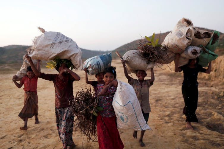 Rohingya refugees continue to flee from Myanmar to neighbouring Bangladesh. Reuters/Tyrone Siu