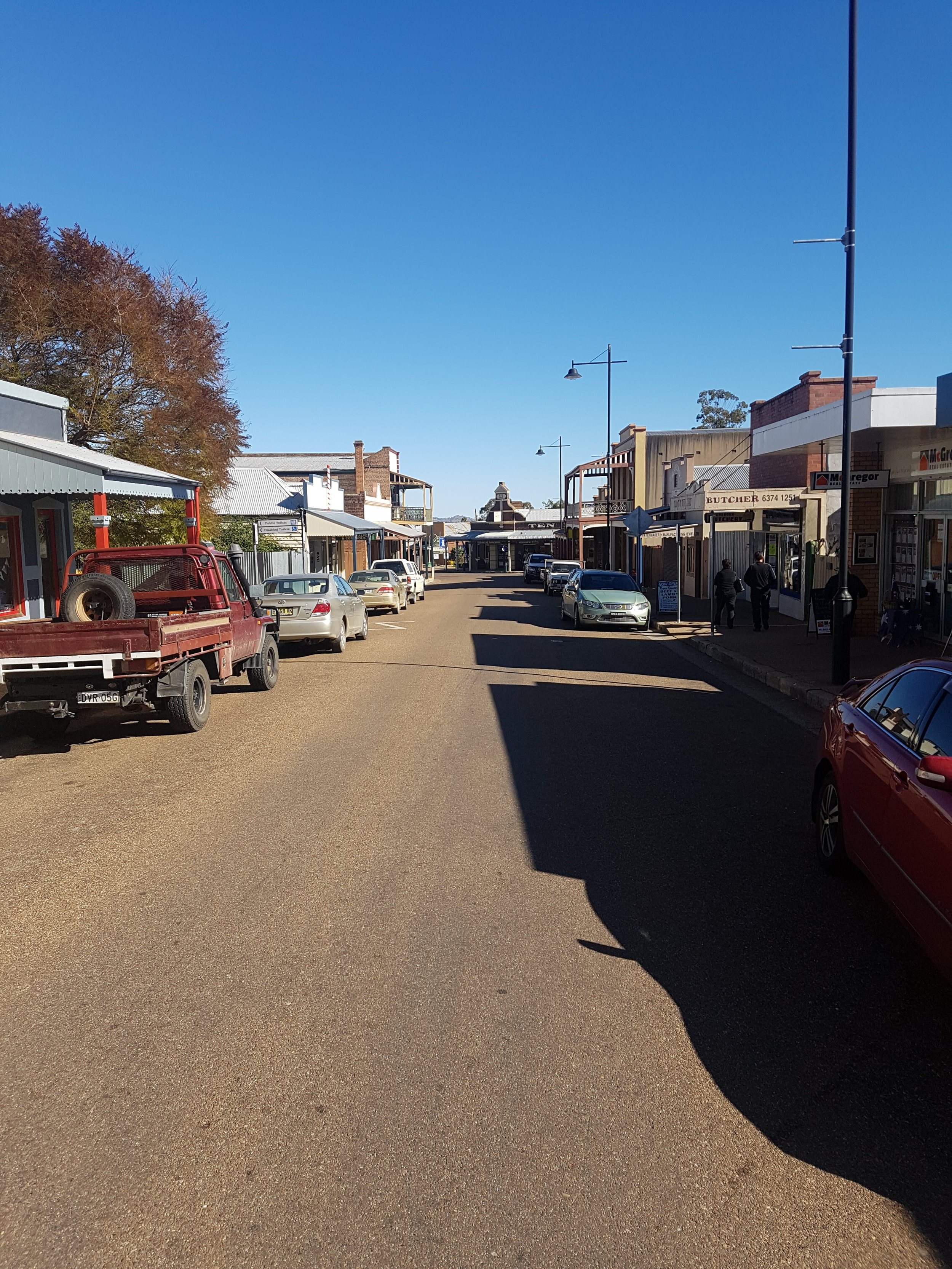 Yeoval to Willow Tree via Wellington, Gulgong and Scone. 5 stars Gulgong main street. Great country, gotta say...