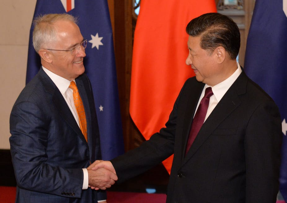 In a recent speech, Prime Minister Malcolm Turnbull attempted to reset Australia's relationship with China, which has become strained in recent months. AAP/EPA/Kanzaburo Fukuhara / POOL