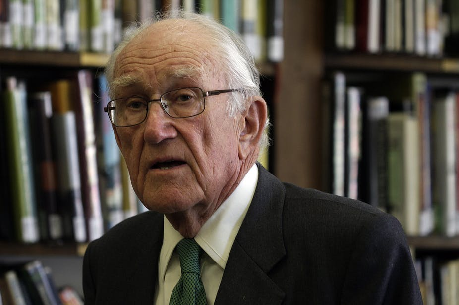 "Members of the Liberal Party's latter-day ""broad church"" could do worse than secure copies of these Malcolm Fraser's manifesto for a new political party. AAP/ Luis Enrique Ascui"