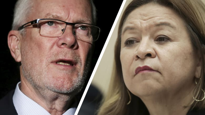 Former ABC chairman Justin Milne and former managing director Michelle Guthrie. Both lost their positions this week. Photo: Alex Ellinghausen
