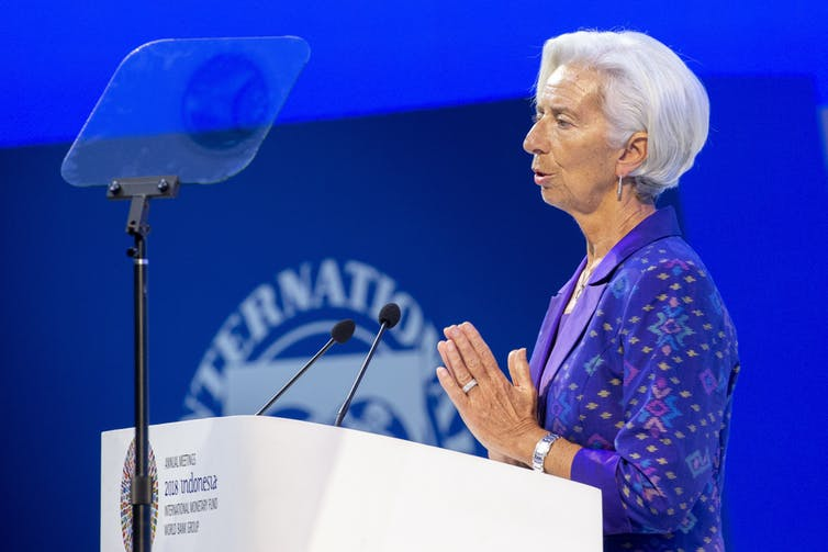 IMF Managing Director Christine Lagarde has called on G20 members to AAP/EPA/Made