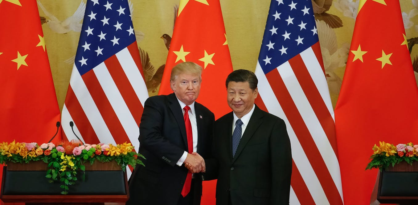 US President Donald Trump and Chinese President Xi Jinping are set to meet again at the G20 in Buenos Aires, at a pivotal moment in world economic history. AAP/EPA/Roman Pilipey