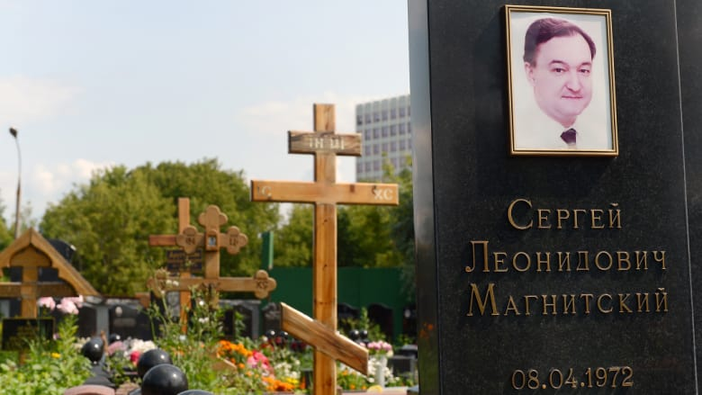 Magnitsky's grave in the Preobrazhensky cemetery in Moscow.Credit:New York Times