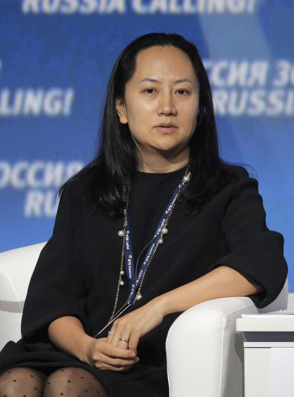 Huawei executive Meng Wanzhou.  AAP/EPA/ Maxim Shipenkov