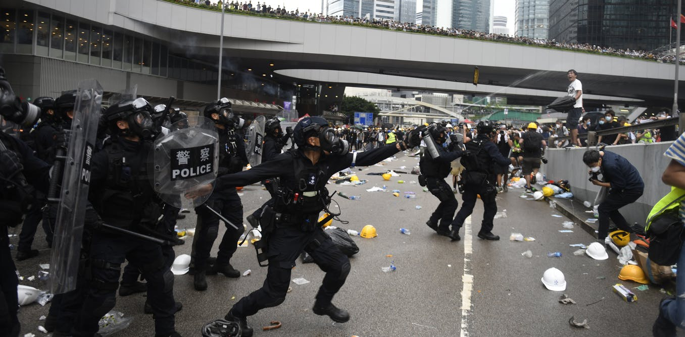 Mass pro-democracy demonstrations over recent days have underscored the fact that Hong Kong residents are fearful of creeping mainland control. AAP/EPA/Vernon Yuen