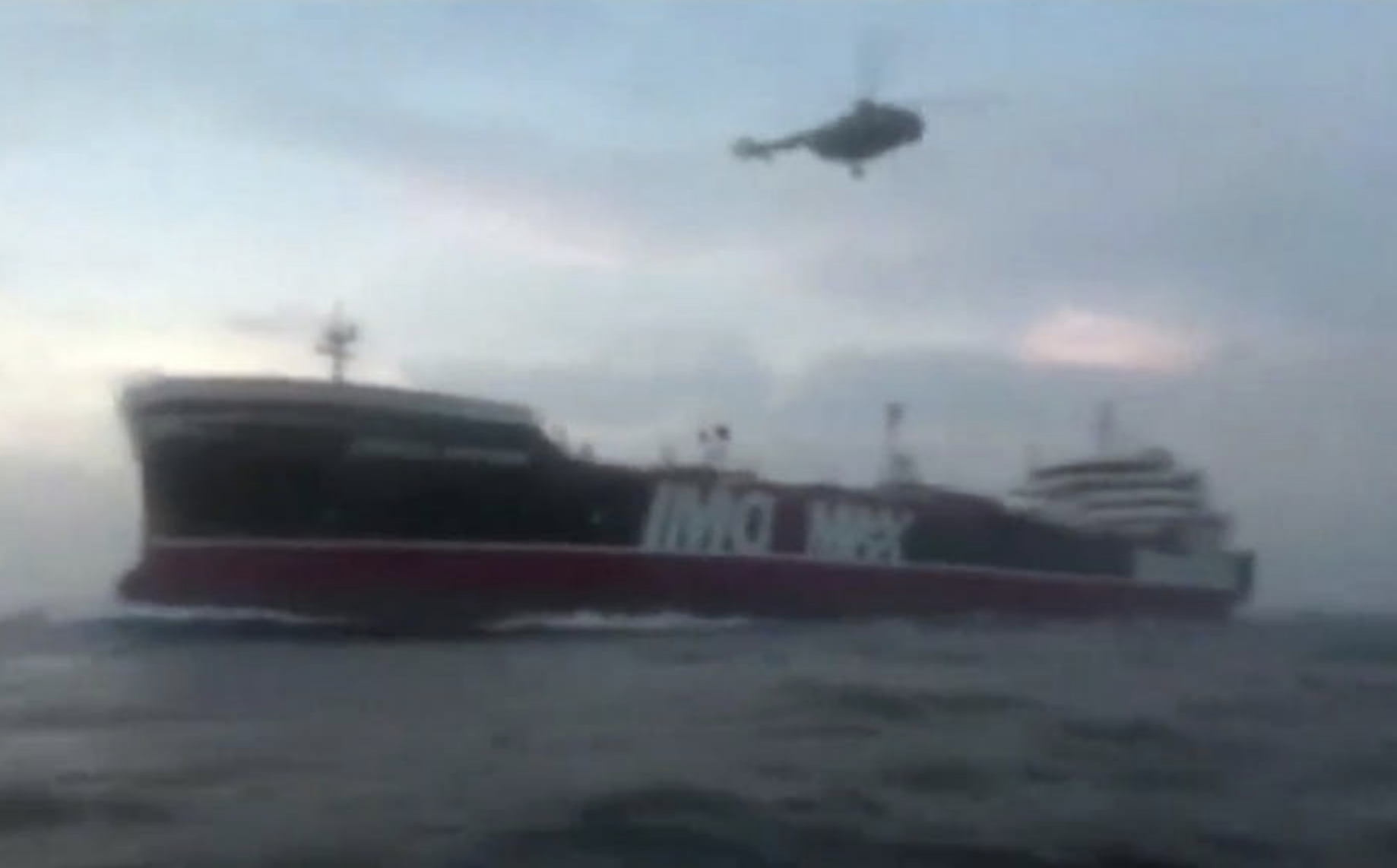 Footage released by Iran's Sepah News reportedly shows Revolutionary Guard Corps boarding the British-flagged tanker Stena Impero. EPA/Sepah news handout