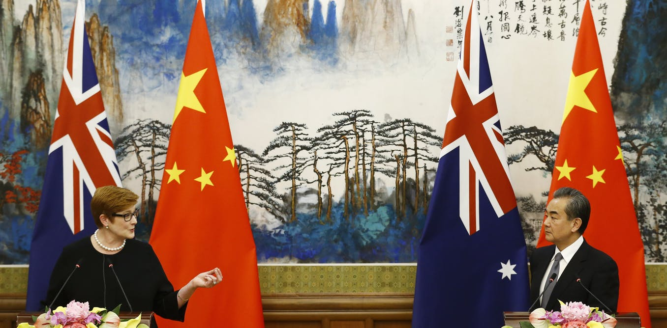 The Morrison government is at risk of losing control of China policy at the most critical time in Australian history. AAP/EPA/Thomas Peter/pool