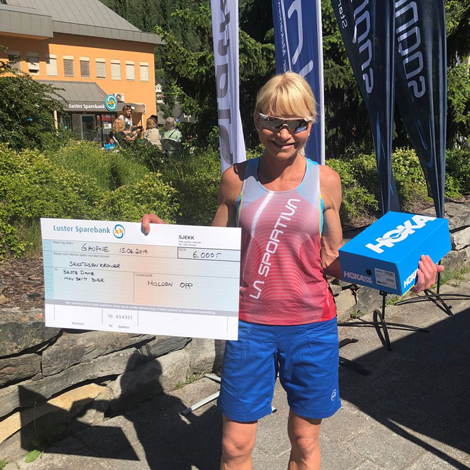 1. May Britt Buer, Team La Sportiva, 1:02:10
