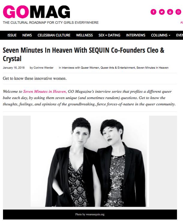 Interview with GO Magazine