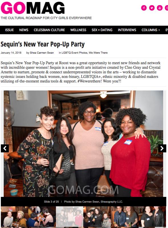 GO Magazine at SEQUIN Pop-Up