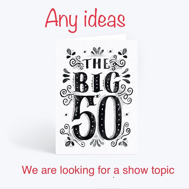 We need ideas for a show topic. It's our 50th show and we want to know what the listeners want to hear for this show.  Post a comment below.  If we pick your topic we will send you a shirt and stickers  #big50 #podcasting #atgpodcast