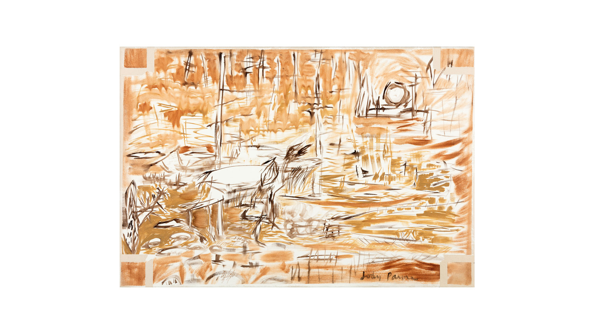 "Moose 1 , 2015, oil on canvas, 23 ¾"" x 35"""