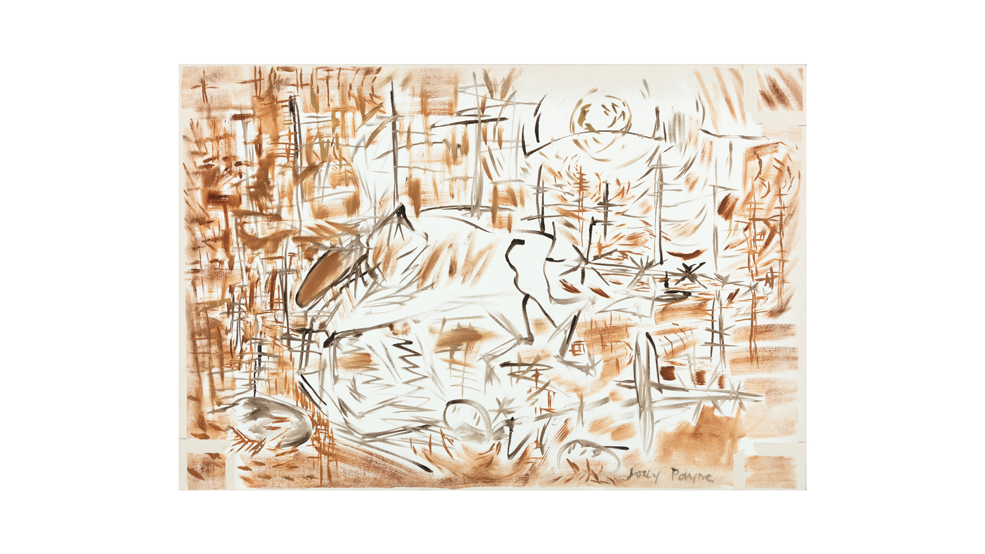 "Moose 2 , 2015, oil on canvas, 23 ¾"" x 35"""