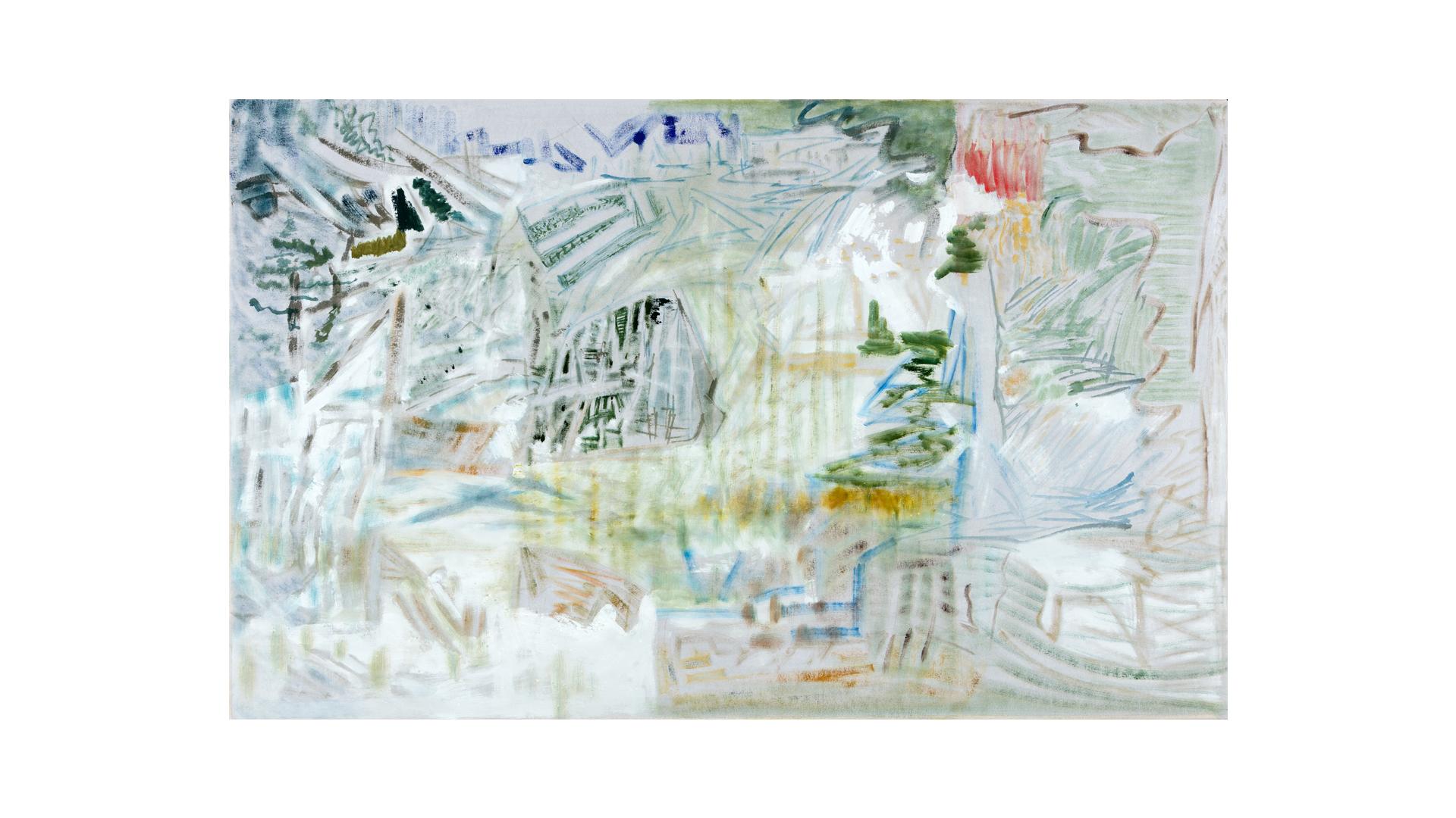 """Landscape Views , 2017, oil on canvas, 40 ¼"""" x 64 ½"""""""