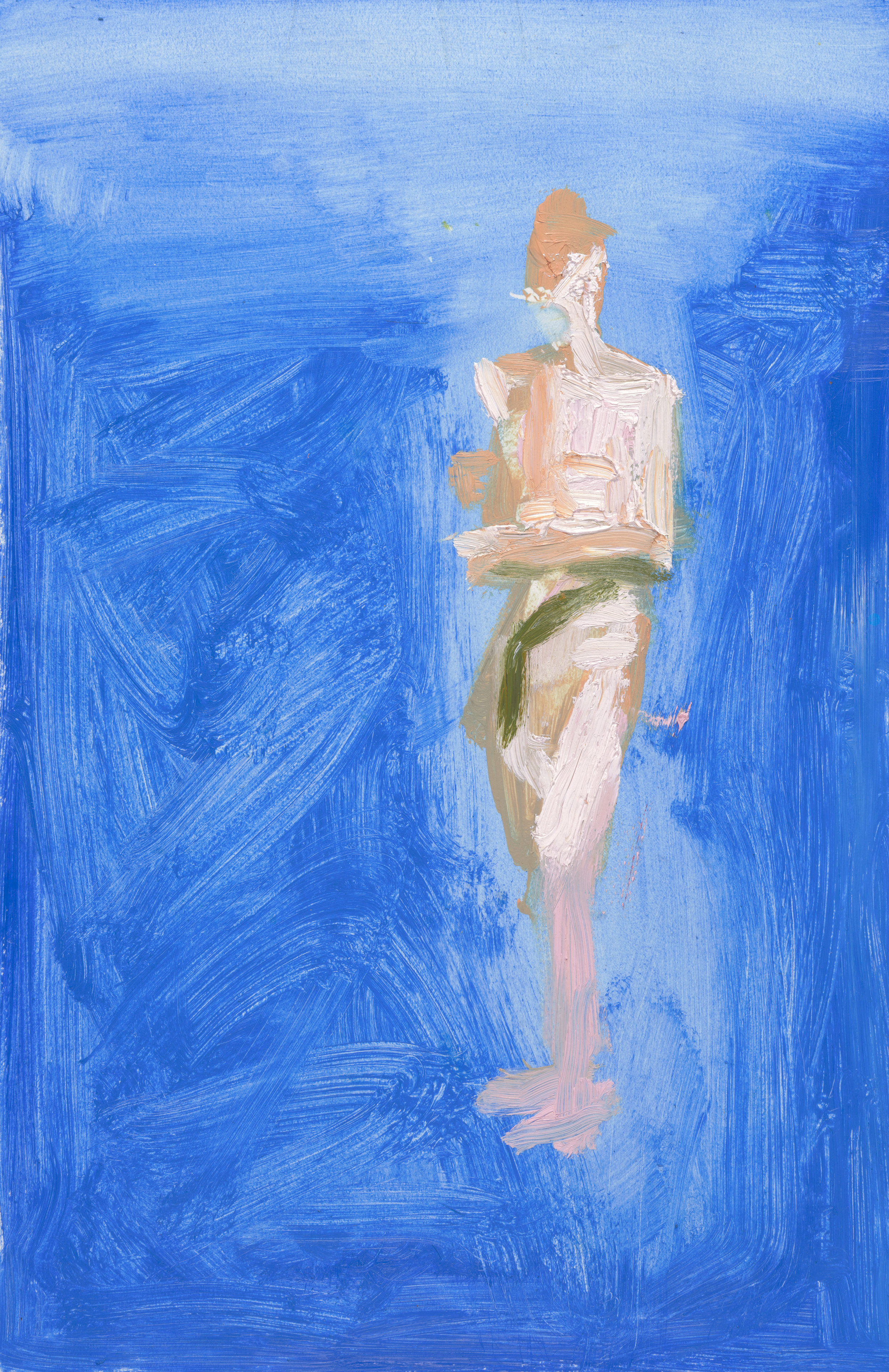 "Man II , 2015, oil on paper, 17"" x 11"""
