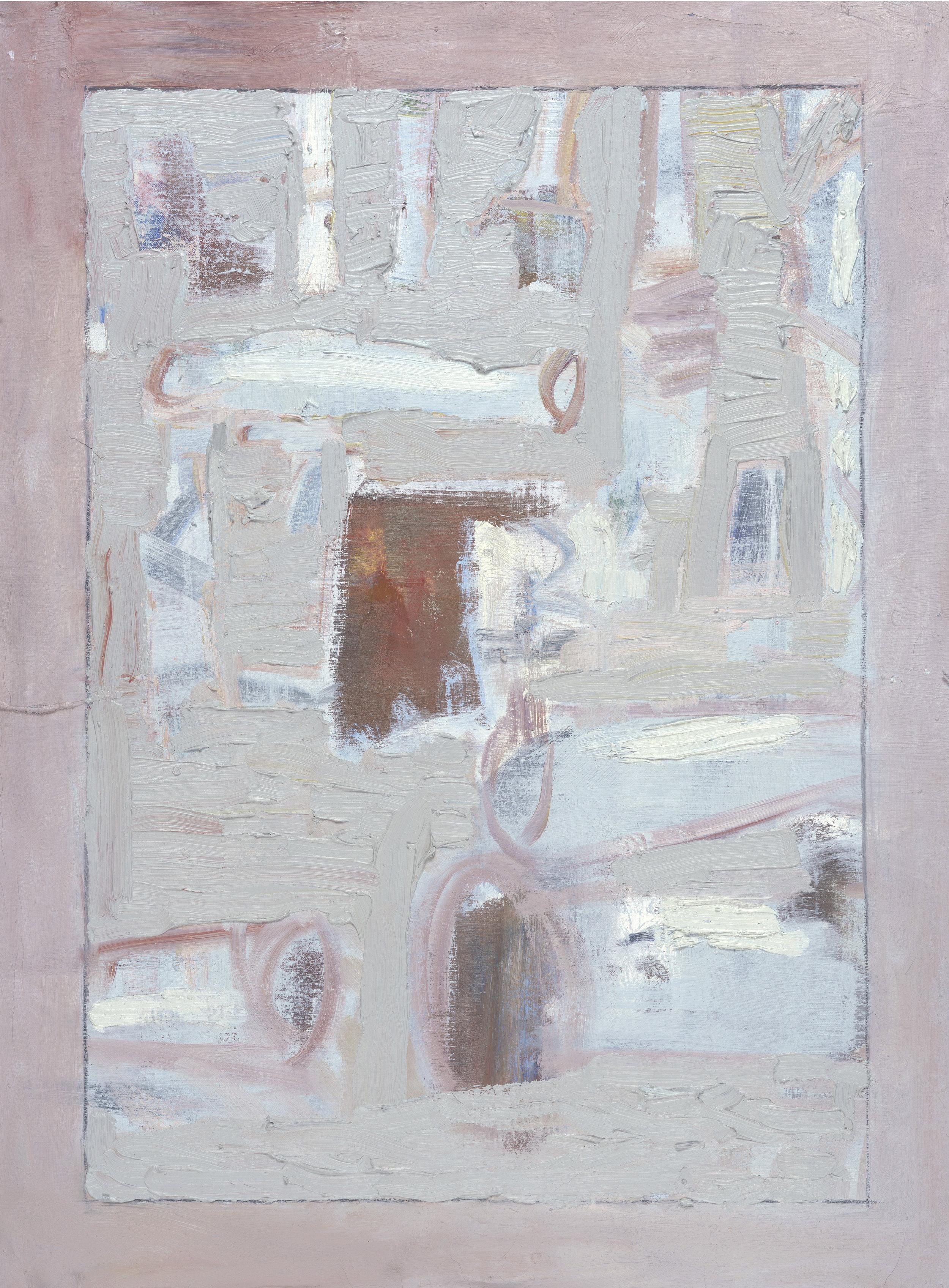 "Cut Trees , 2016, oil on canvas, 40"" x 30"""