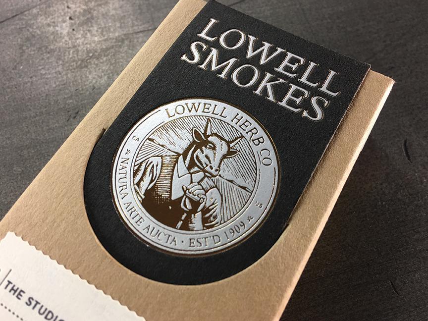 Studio-On-Fire-Lowell-Smokes-letterpress-foil-packaging-box-front.jpg