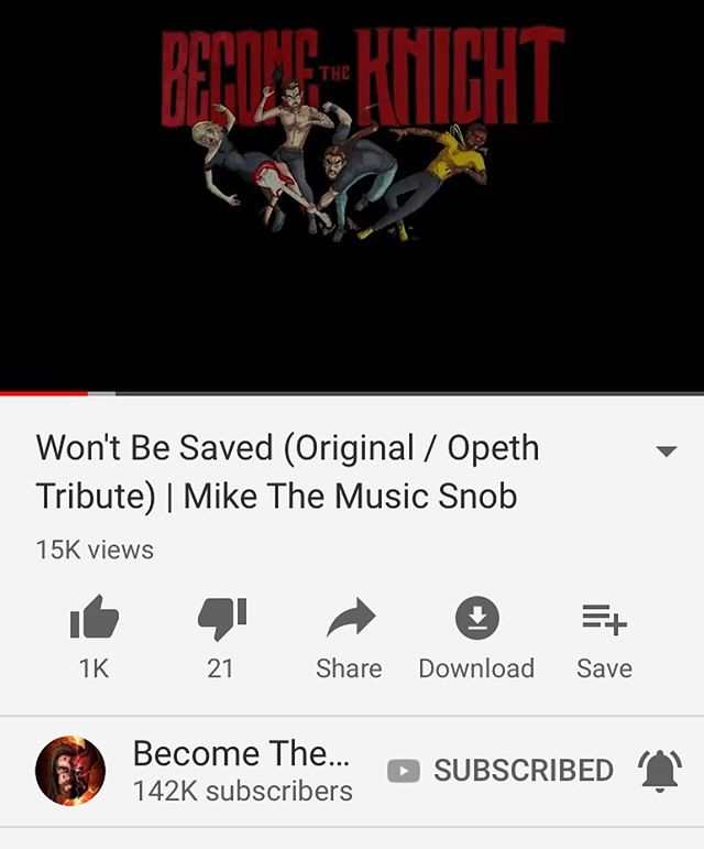 Jamming to this tasty Opeth-inspired snack by @become_the_knight today, in which Mike (perhaps unintentionally?) channels a young Greg Lake 🎼😎