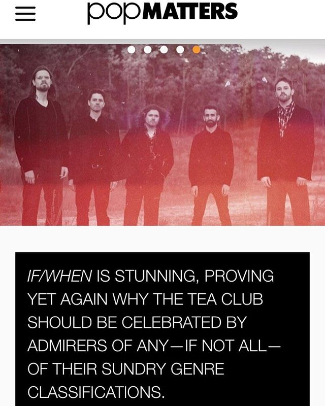 """Stunning...exceptional amalgamation of complexly colorful arrangements and heartfelt rustic songwriting..."" Thank you Jordan Blum and @popmatters for this wonderful review of our new album ""If/When""! . . . #theteaclub #progrock #newalbum #music #band #tea #bandsofinstagram #psychedelicrock #indie #indieband #indiemusic #popmatters #albumreview"