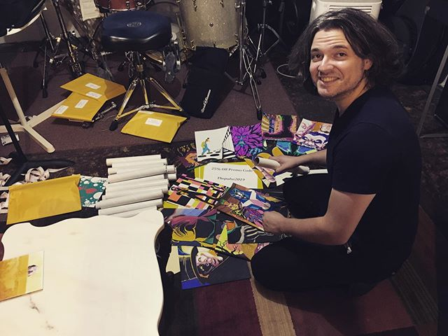 The CD's are on their way! Dan McGowan and Dan Monda were up until the wee hours of the morning getting the orders ready, but they are all mailed out now and on their way! If you already pre-ordered the Special Edition, you will be getting your CD in the mail very soon, as well as a poster and a custom drawing by our lead singer Dan McGowan! 👍 If you haven't yet, click the link in our bio to buy your copy of If/When! . . . #theteaclub #progrock #newalbum #music #band #tea #bandsofinstagram #psychedelicrock #indie #indieband #indiemusic #cd #cds #acoustic