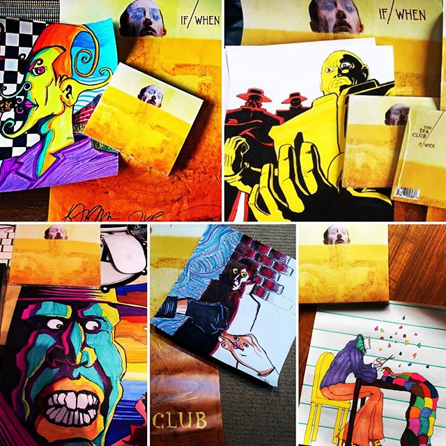 "Our singer Dan made drawings for everyone who preordered ""If/When""! If you get one in the mail, take a picture, post it and tag us in it! 😎 Here's a few that we've seen so far! . . . #theteaclub #progrock #newalbum #music #band #tea #bandsofinstagram #psychedelicrock #indie #indieband #indiemusic #albumart #psychedelicart #ifwhen"