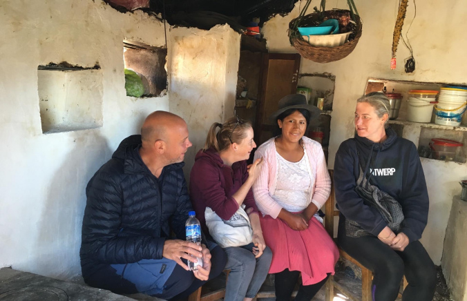 – by volunteering you get the chance to connect differently with the local people, like this lovely lady Noémie from the poor Socos region, who proudly showed us her new kitchen she managed to build thanks to the work of the NGO Solid. –
