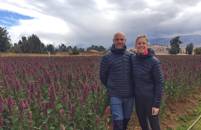 – city people on a quinoa farm, not exactly our 'field' of experience –
