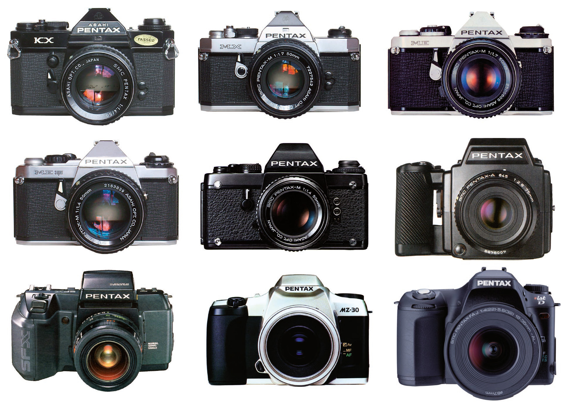 Pentax camera's I've owned over the years