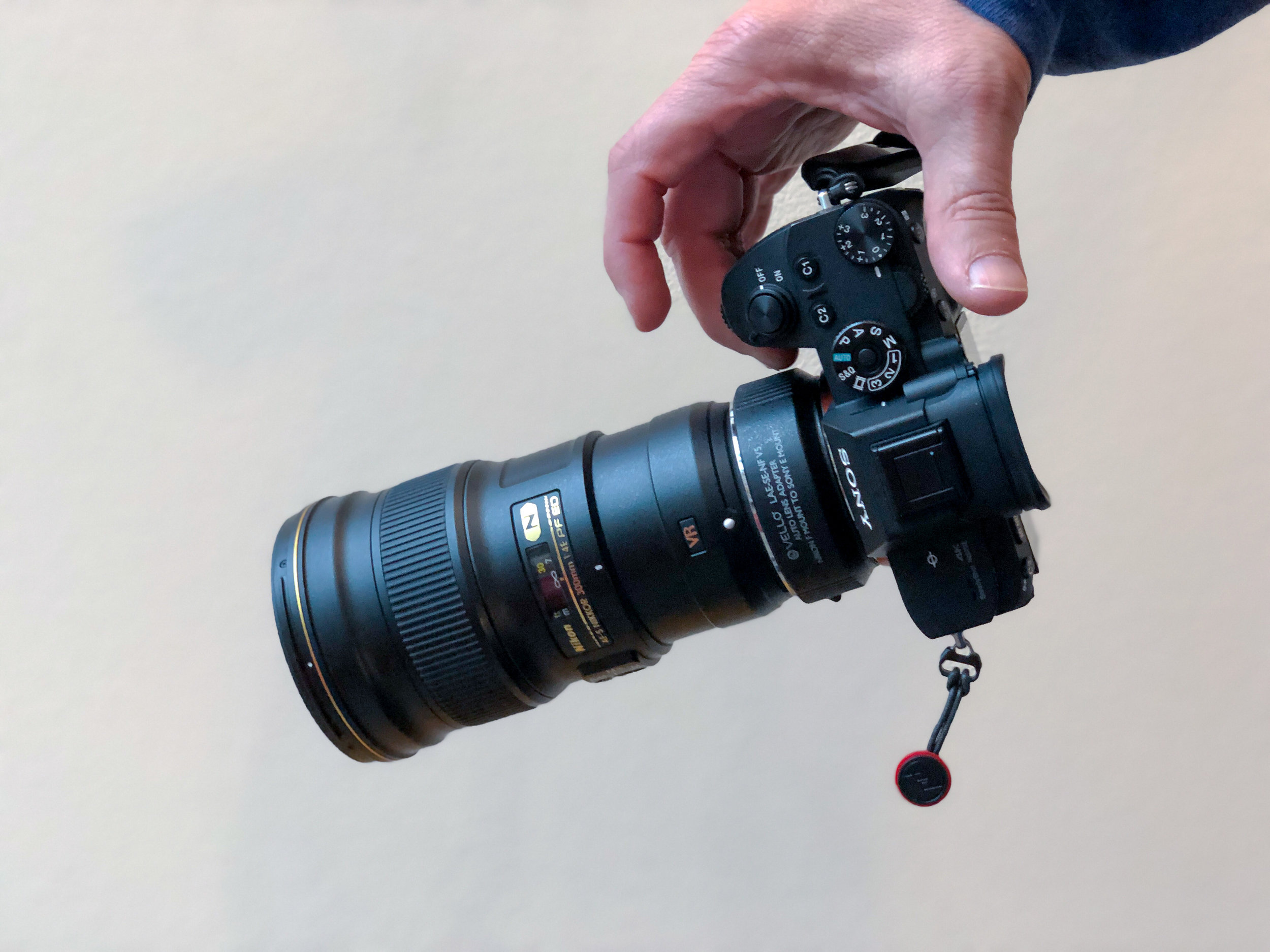 Sony A7R3 with Nikon 300mm f/4 PF and Vello adaptor