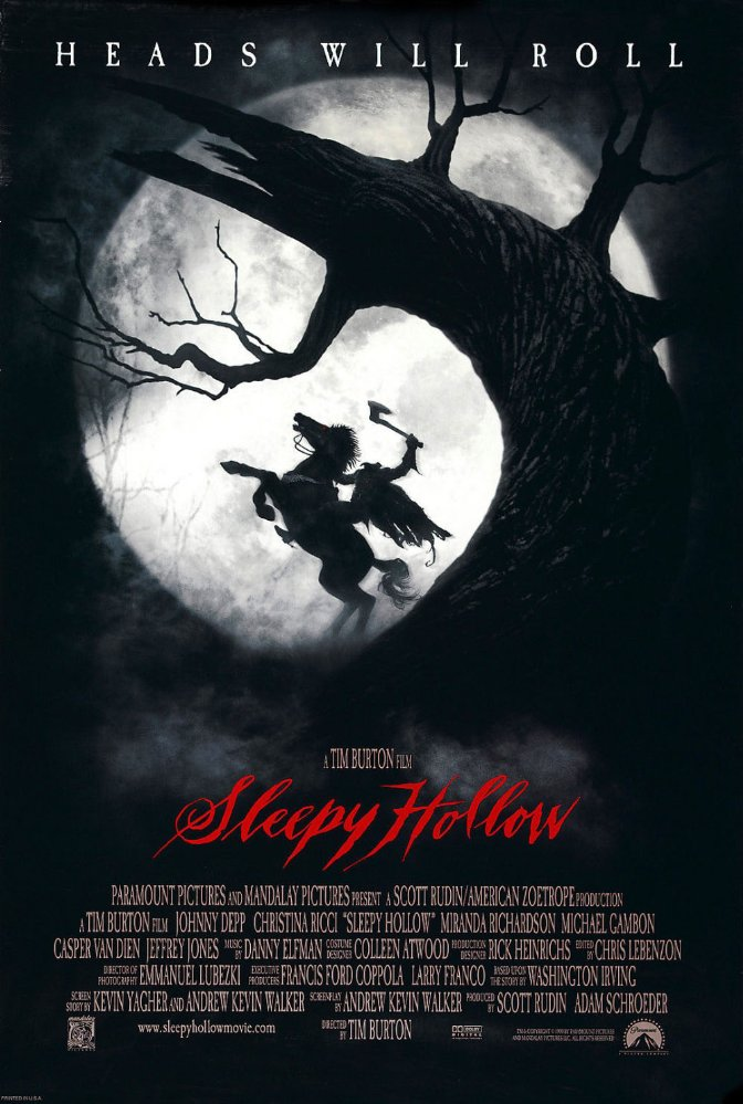Sleepy Hollow - Sleepy Hollow with Johnny Depp is actually a borderline scary movie, but if I can handle it, I say it should make this list. It's just creepy enough to get you in the Halloween mood without giving you nightmares. Perfect!
