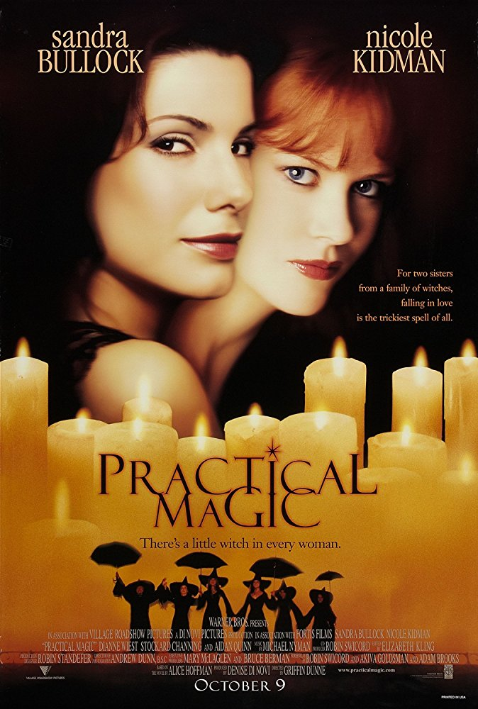Practical Magic - I was late to the party with this one by discovering it a full 18 years after it came out, but this movie is now one of my absolute staples for kicking off fall. Sandra Bullock and Nicole Kidman are two beyond gorgeous witches who find themselves in a bit of a sticky situation. It's funny, lighthearted, romantic, and spooky in all the right ways. Next time you make margaritas, you'll be dancing around your kitchen. 10/10!