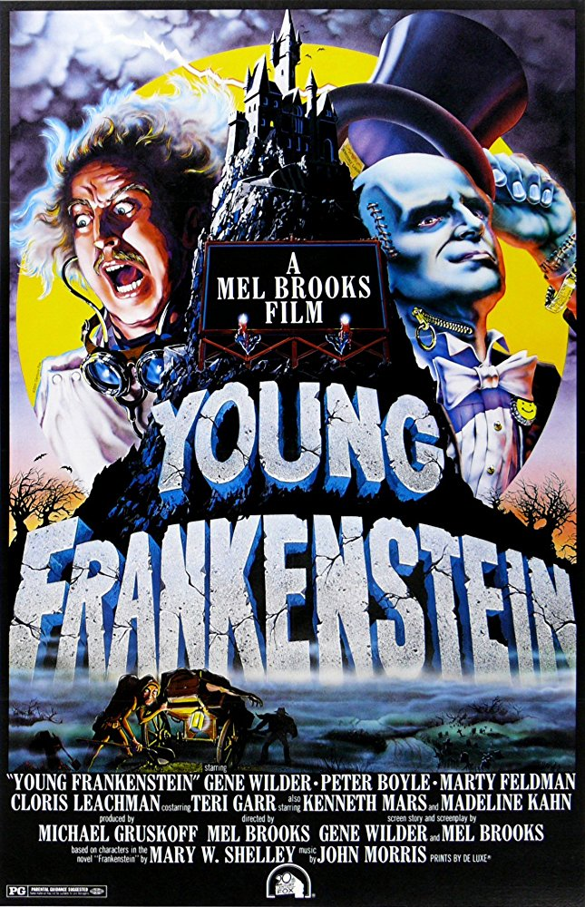 Young Frankenstein - Another movie I was totally sleeping on until recently. Young Frankenstein seems scary from the movie poster, the black & white film, and the dark-and-stormy-night setting, but I lost track of how many times I legitimately laughed out loud. I can't even sum it up for you, you have to see it to believe it!