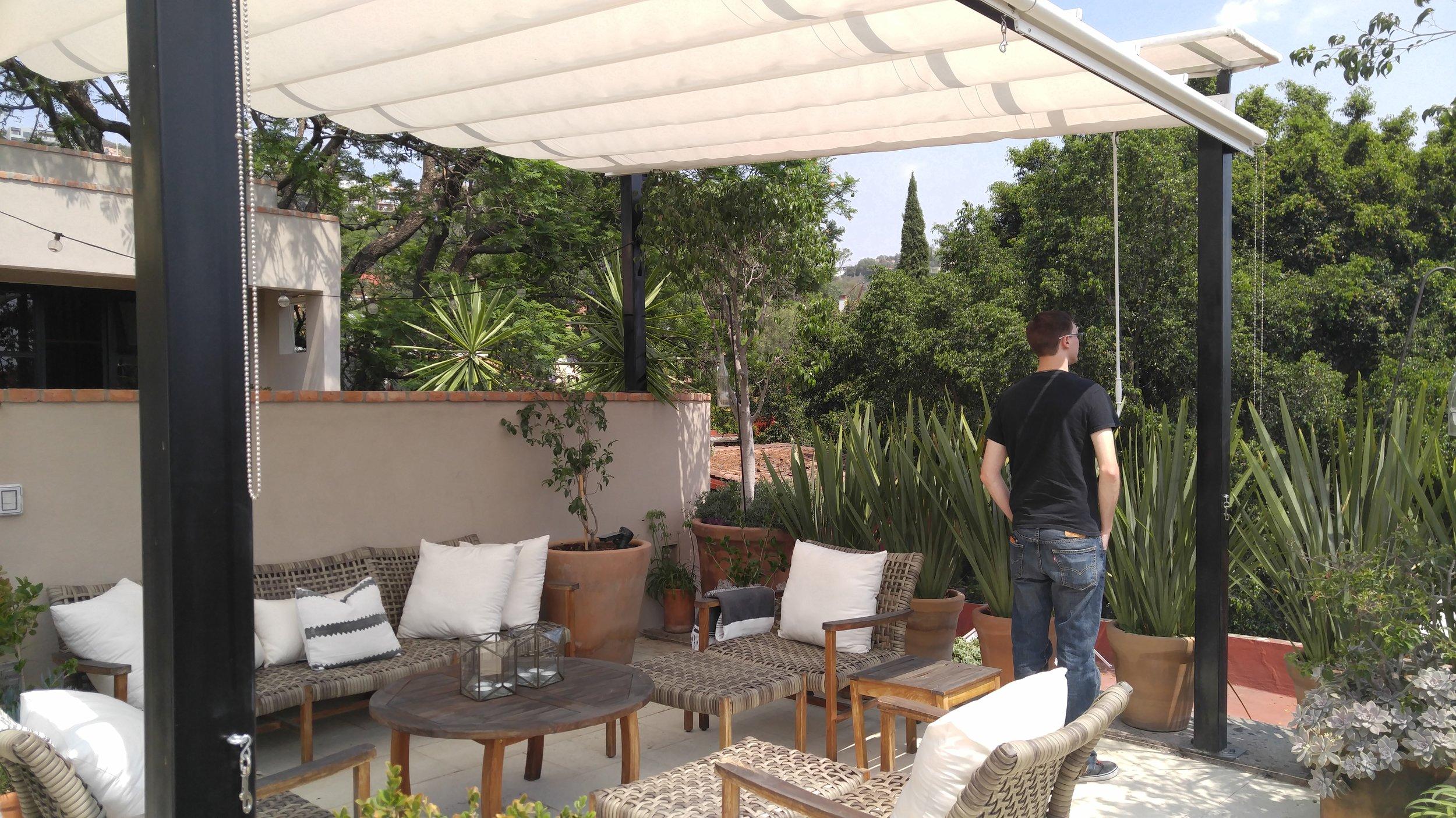 Our rooftop escape at  Casa Zenaida (feat. Tyler's back).