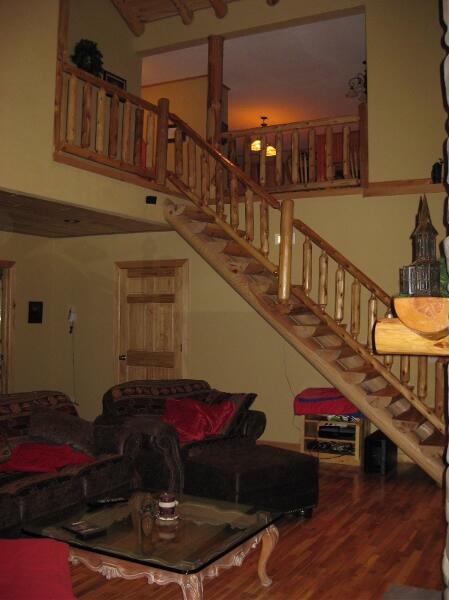 tonglen immersive retreat cabin interior stairway